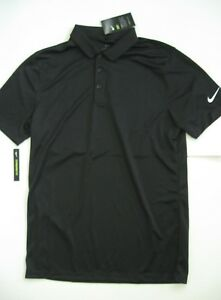 3755bd534 NEW Nike Golf Men's DRI-FIT Black Short Sleeve Polo Shirt AO2195-010 ...