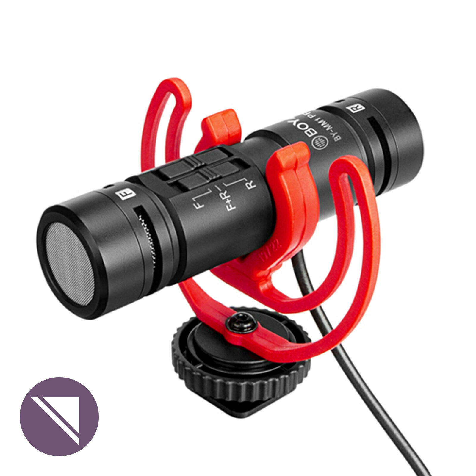 Boya BY-MM1-PRO Mono/Stereo Mic with Shock Mount & Fluffy for DSLR & Smart Phone