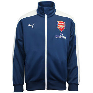 Puma AFC Arsenal T7 Anthem Boys Kids Zip Up Track Top Jacket 746581 ... 9c8e829b2