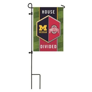 Ohio State Buckeyes Michigan Wolverines Flag House Divided Garden Flag 808412917417 Ebay