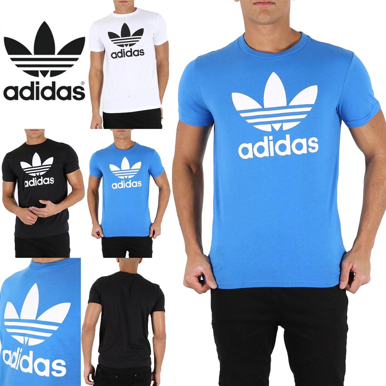 Adidas Originals Herren Branded Dreiblatt Rundhals T-Shirt aus Baumwolle Kurzarm