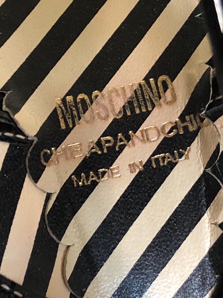 VTG Moschino Cheap + Chic Nautical Schuhes Stilleto Heels Peep Toe Sling Back 9