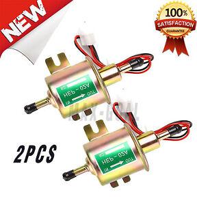 2xNEW UNIVERSAL 12V ELECTRIC FUEL PUMP INLINE DIESEL PETROL LOW PRESSURE HEP GGG