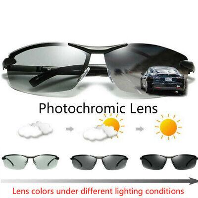 Polarized Photochromic Sunglasses Mens UV400 Driving Transition Lens Glasses