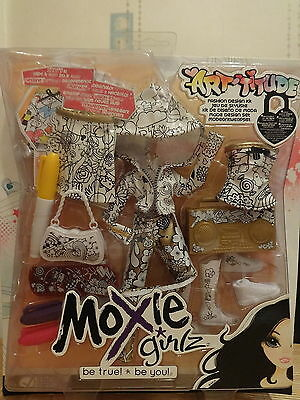 ! Raro! Moxie Girlz Art Affidando Fashion Design Kit-nuovo Con Scatola-mostra Il Titolo Originale