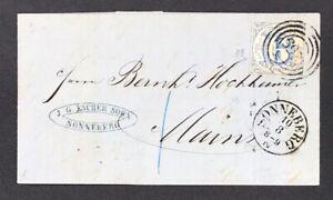 Thurn-und-Taxis-Einzelfrankatur-Mi-Nr-33-Sonneberg-nach-Mainz-1863-Rechnung