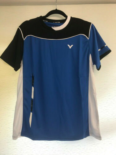 Non-Static Unisex Sports T-Shirt Blue 6774 *NEW* VICTOR PerfectDry