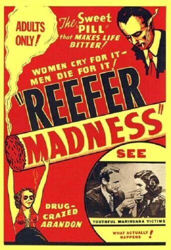 SIZE 24X36 REEFER MADNESS MOVIE POSTER Marijuana Propaganda