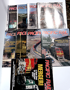 Lot of 9 Issues Pacific Rail News, 1994