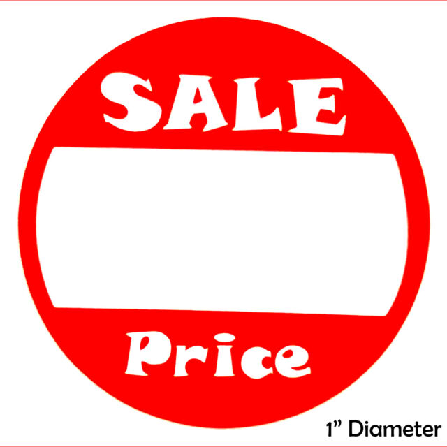 500 Self Adhesive Price Round Retail Labels 1 Sticker Tags