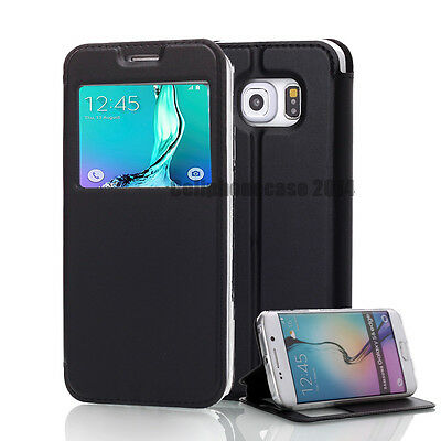 Wallet For Samsung Galaxy S6/EDGE PU Leather Flip Front  View Stand Case Cover