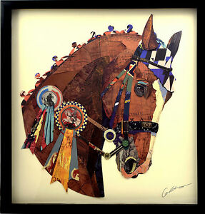 Dettagli su Vittoria 3D Arte Pittura Immagine Parete Soggiorno Cavallo  Equitazione Corsa