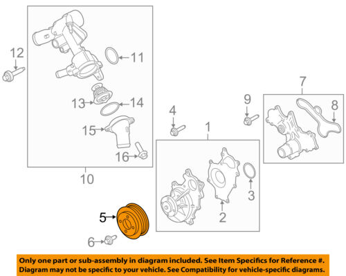 FORD OEM 11-17 F-150 3.5L-V6 Water Pump-Pulley BR3Z8509G