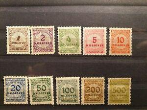 10-German-1923-Deutsche-s-Reich-Millionen-Stamp-Collection-Inflation-Period-PH
