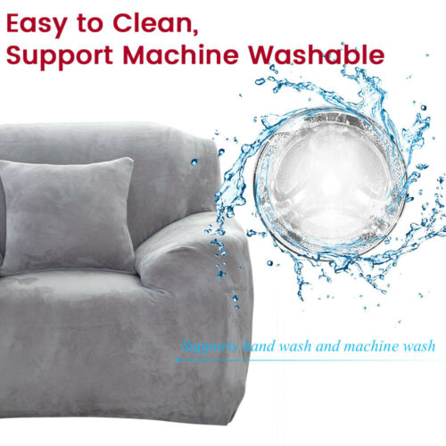 1 2 3 4 Seater Stretch Plush Thick Sofa Covers Chair Slipcover Protector