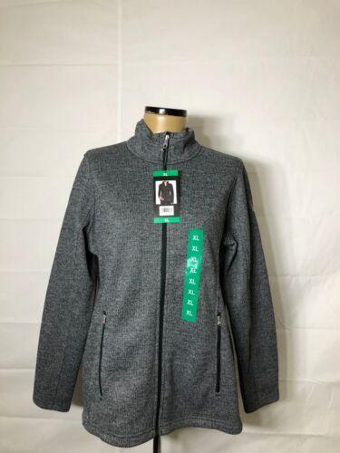 NWT Spyder Women/'s Major Cable BLACK Sweater Full Zip Jacket XLARGE *O
