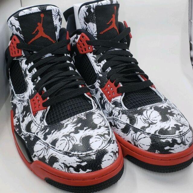 best wholesaler excellent quality super quality Mens Nike Air Jordan 4 Retro Singles Day Tattoo Shoes Sz 11 ...