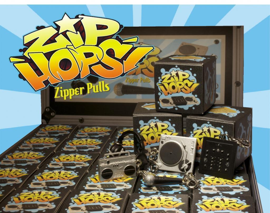 Completo Funda zip-hops tiradores de cremallera Tocadiscos Mic Boombox Mezclador Hip Hop Mini Figuras