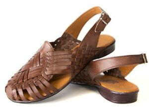2b2cfeec9048 Image is loading SIDREY-WOMENS-Mexican-Sandals-Closed-TOE-Woven-Style-
