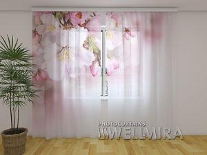 Motiv Gardinen bedruckt 3D Gardinen Vorhänge Blumen Fotogardinen