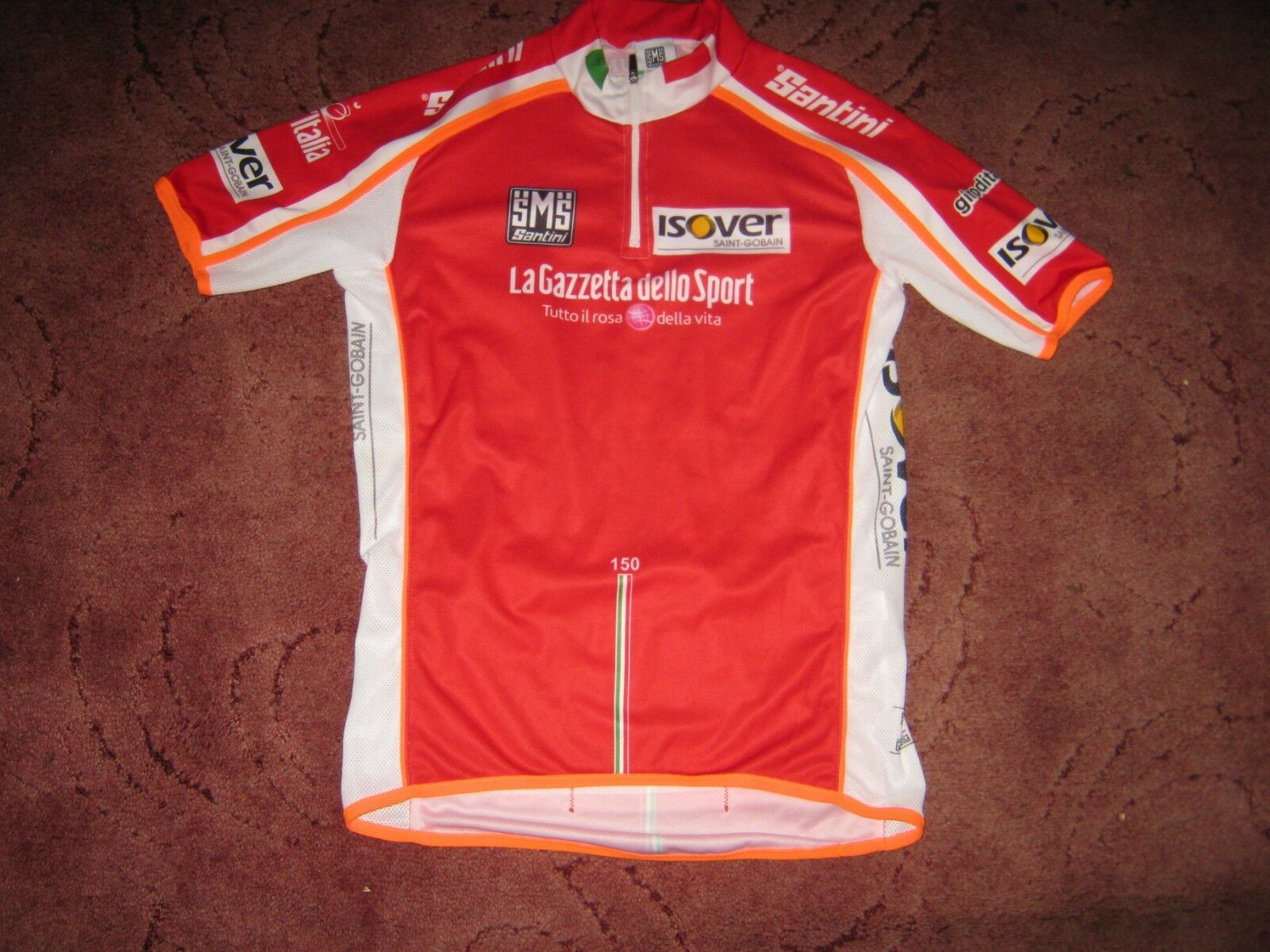 Giro Giro Giro d'Italia tour d'Italie SANTINI rouge points HUNTER Cyclisme Jersey [Medium] f545b6