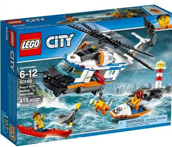 Lego 60166 Set City Seenot Rettungshubschrauber Heavy Duty Rescue Helicopter