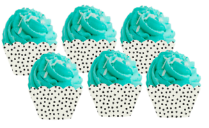 12pack Paw Print Decorative Baking Cup Wrappers  NEW