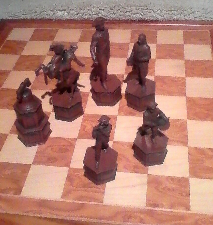 Revolutionary War Chess Set Extra Large