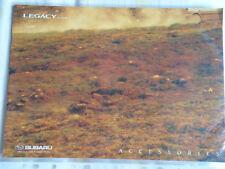 Subaru Legacy Accessories range brochure c1998?? ref SB079