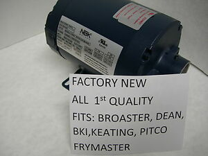 NEW-HAIGHT-NBK-HOT-OIL-MOTOR-FITS-DEAN-BKI-KEATING-FRYMASTER-PITCO-FRY-FILTERS