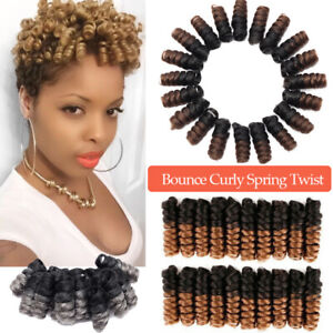 Braiding Hair Bouncy Curly Kanekalon Afro Short Spring Twist Loops Crochet Hair Ebay