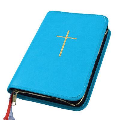 Buchhülle ZuverläSsig Gotteslob Hülle Gotteslobhülle Kunst Leder Türkis Hellblau Kreuz Gold Gebetbuch Bücher