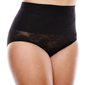 eef3da36a190d Image is loading Cortland-Shapewear-Belly-Band-Moderate-Control-Black-Brief-