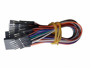 10X 6 inch 6 pin pins Female - Male Arduino Jumper Cables Wires ...