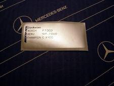Original Mercedes Zündkerzen-Aufkleber AMG M104 E34 im 300E-24 3.4 AMG W124