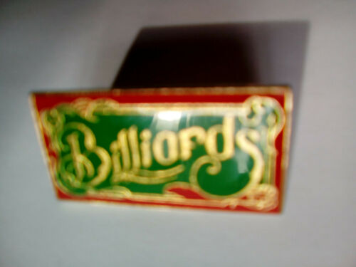"25 1 Billard Pin zum Anstecken /""Billards/"" 32 x 17 mm neu"