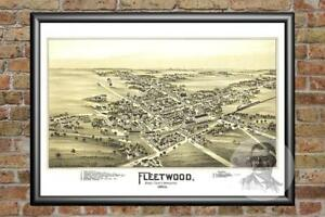 Old-Map-of-Fleetwood-PA-from-1897-Vintage-Pennsylvania-Art-Historic-Decor