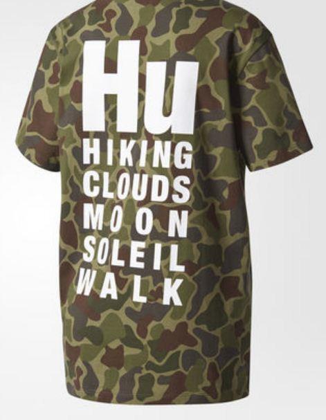 Adidas damen Originals Pharrell Williams Hu Hiking Camo Tee Shirt CY7488 UK12