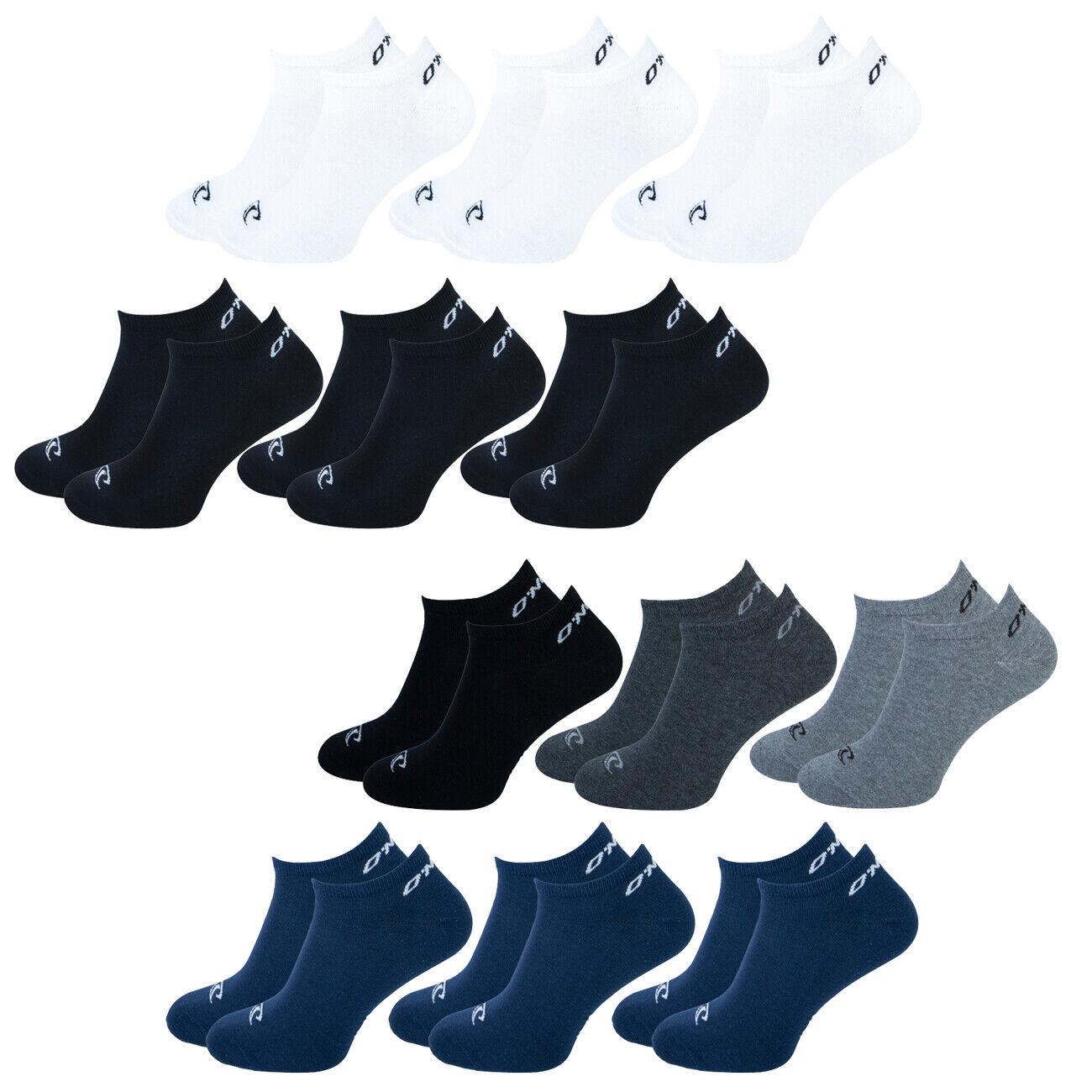 O'Neill Unisex Sneaker Socken 9er Pack 35-38 39-42 43-46 Schwarz Weiß Blau Mix