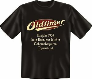 T-Shirt-Fun-Shirt-Geburtstag-Oldtimer-Baujahr-1954-S-XXXL