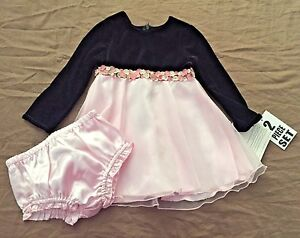 Youngland Black Pink Dress Holiday Fancy Dress Girl 18 Month NEW