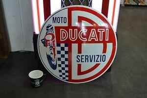 plaque-emaillee-Ducati-50-cm-enamel-sign-bouclier