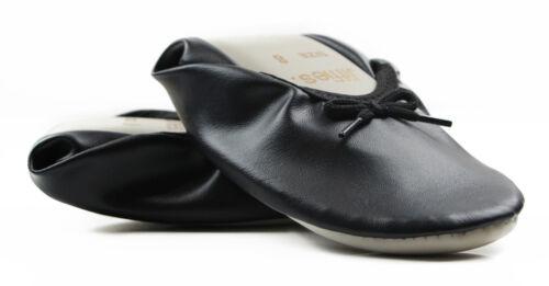 2 x PAIRS NEW BLACK GROSBY JIFFIES WOMENS LADIES BALLET DANCE FLAT SLIPPER SHOES