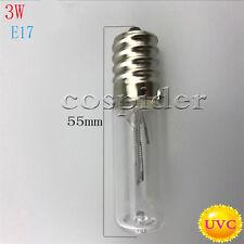 2pcs 3w UVC Sterilizer Quartz lamp for disinfection Replace bulb 10v -12v input