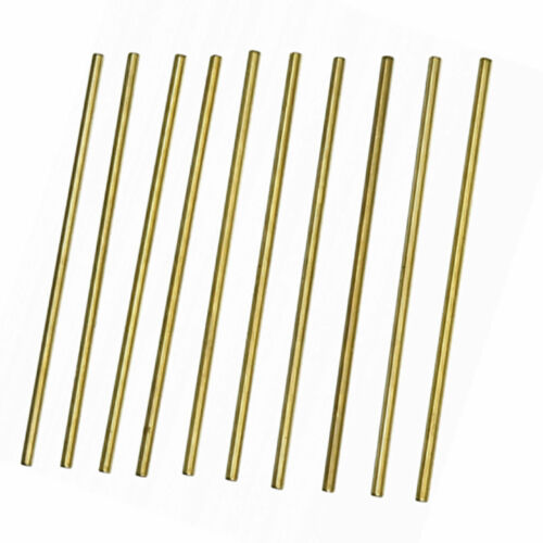 10pcs  100mm Length 3mm Diameter Brass Round Rod Bar for RC Model Airplane