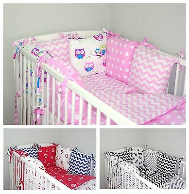 NEW 12 PCS BABY BEDDING SET FOR COT / COTBED with PILLOW BUMPER NEWEST DESIGNS