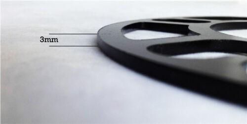2 x NUOVA 3mm Ruota Distanziatori spessori 10 X BULLONI esteso per Vauxhall Corsa C SB30