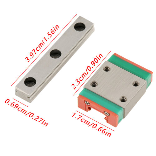 1pc Slide Block For DIY CNC SG 1pc LWL7B Miniature Linear Rail Guide 7mm Width