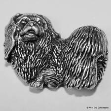 Pekingese Dog Pewter Pin Brooch -British Hand Crafted- Chinese Spaniel, Lion Dog