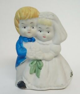 Photo Prop Collectible Ceramic Courting Couple Romantic Vintage Porcelain Figurine Wedding Decor Made in Japan Caketopper? Staging
